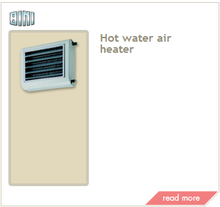hot water air heater